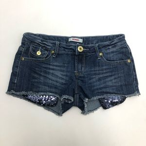 Pants - Bongo Bling Pocket Booty Jean Shorts Size 7